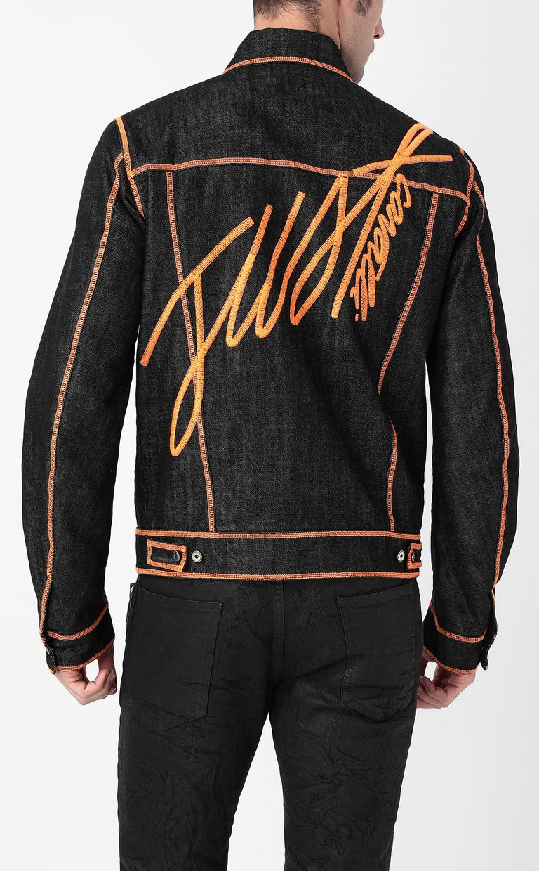 JUST CAVALLI Denim jacket with logo Denim Jacket Man a