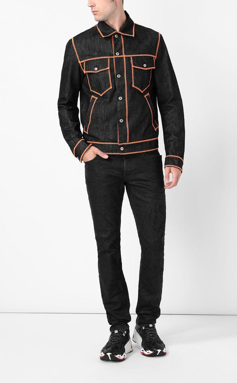 JUST CAVALLI Denim jacket with logo Denim Jacket Man d