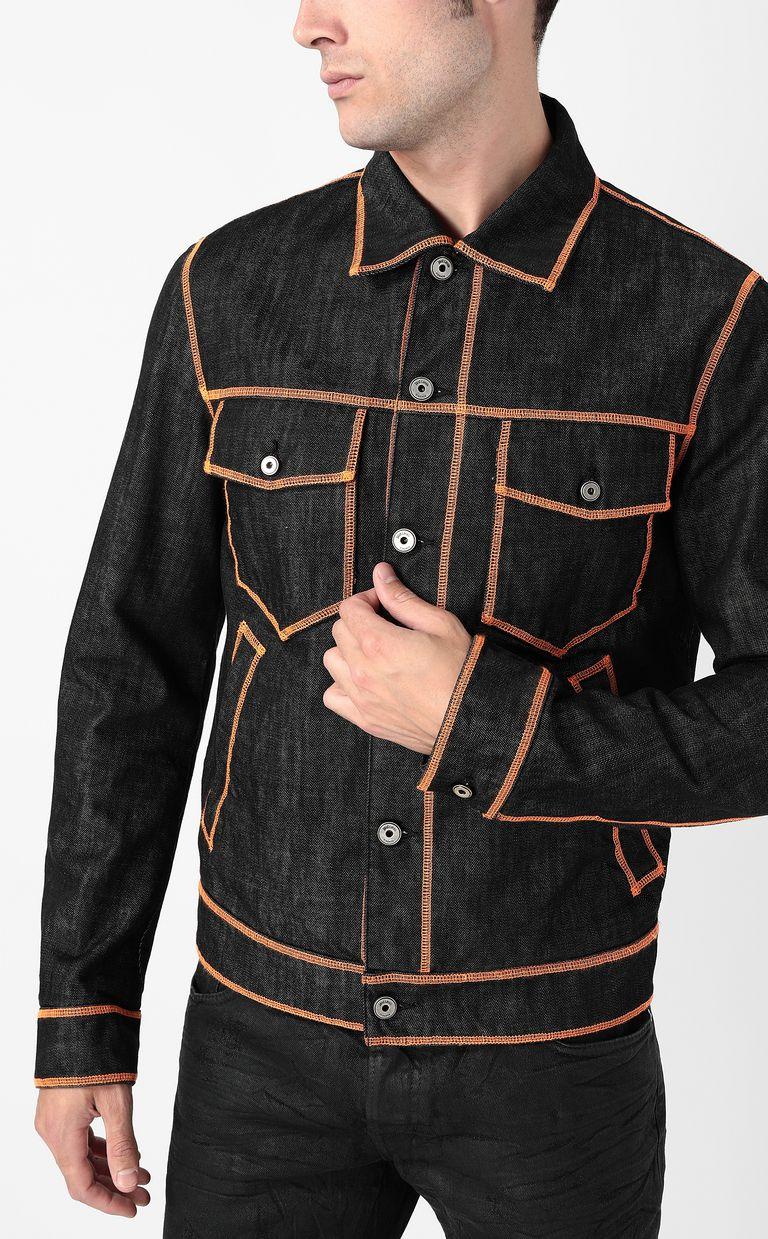 JUST CAVALLI Denim jacket with logo Denim Jacket Man e