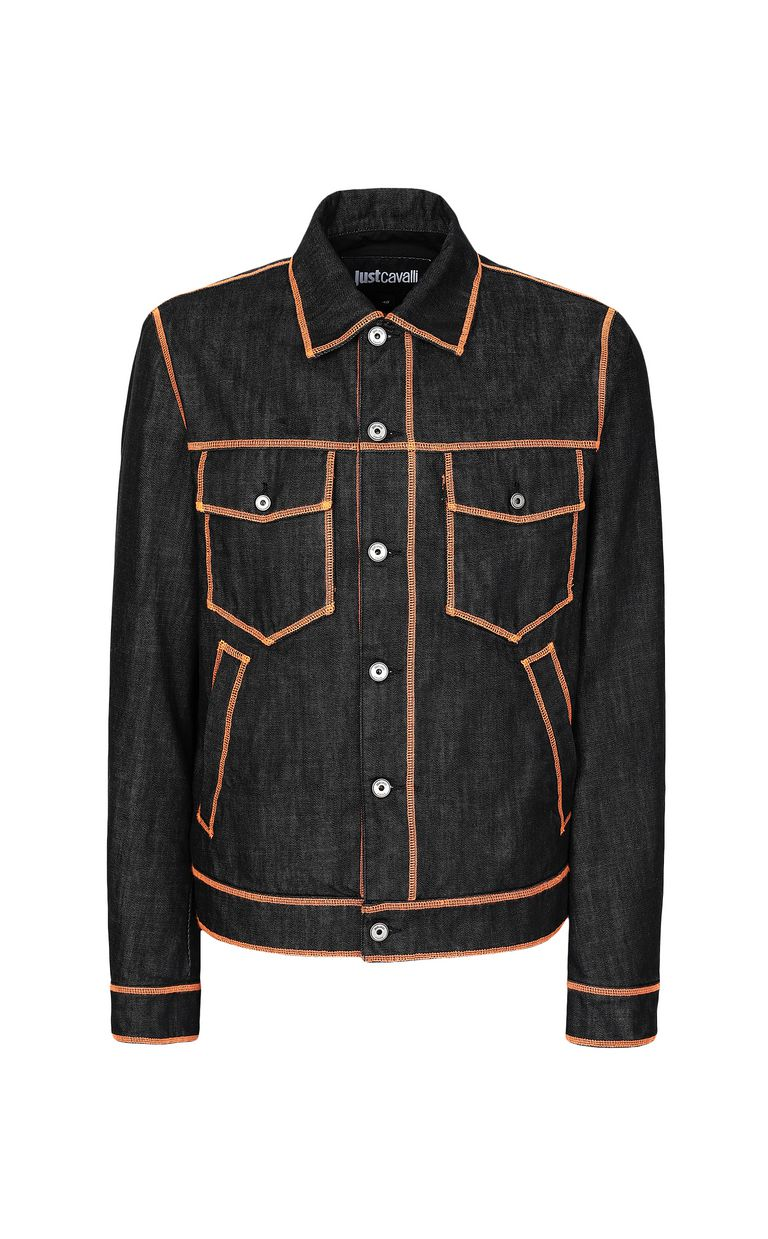 JUST CAVALLI Denim jacket with logo Denim Jacket Man f