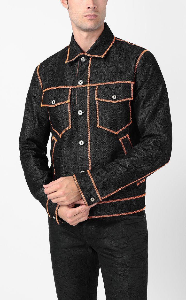 JUST CAVALLI Denim jacket with logo Denim Jacket Man r