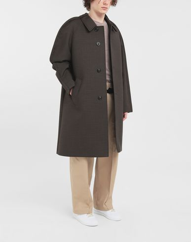 COATS & JACKETS Outline check coat Khaki