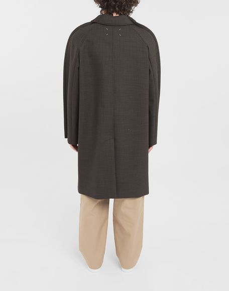 MAISON MARGIELA Outline check coat Coats and Trenches Man e
