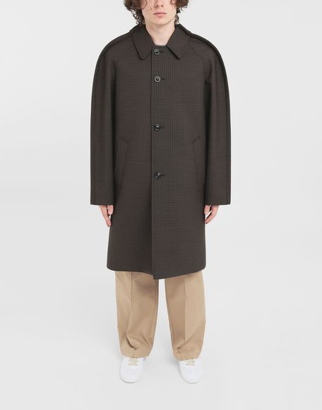 MAISON MARGIELA Outline check coat Coats and Trenches Man r