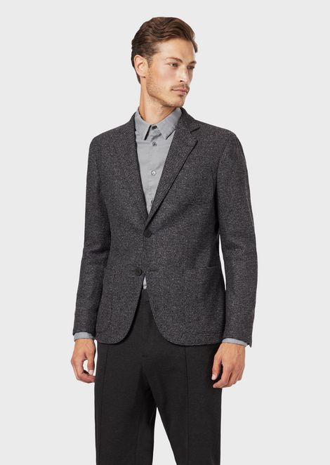 Regular-fit Upton range deconstructed jacket in tweed