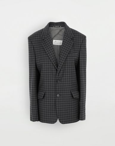 COATS and JACKETS Padded blazer Grey