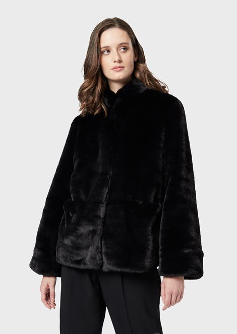 Faux fur with side pockets