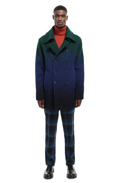 MISSONI Coat Bright blue Man - Front