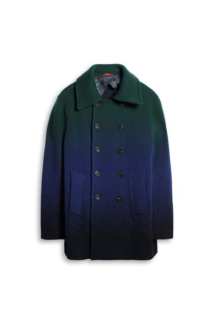 MISSONI Coat Bright blue Man - Back