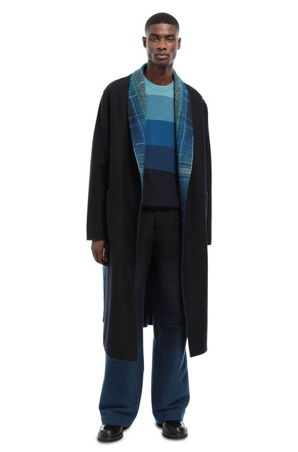 MISSONI Coat Dark blue Man - Front