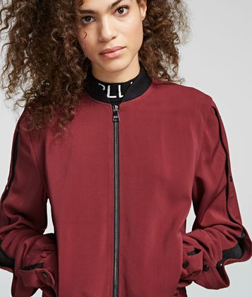 KARL LAGERFELD SNAP-SLEEVED BOMBER
