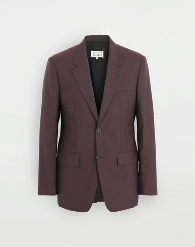 COATS and JACKETS Wool blazer Deep purple