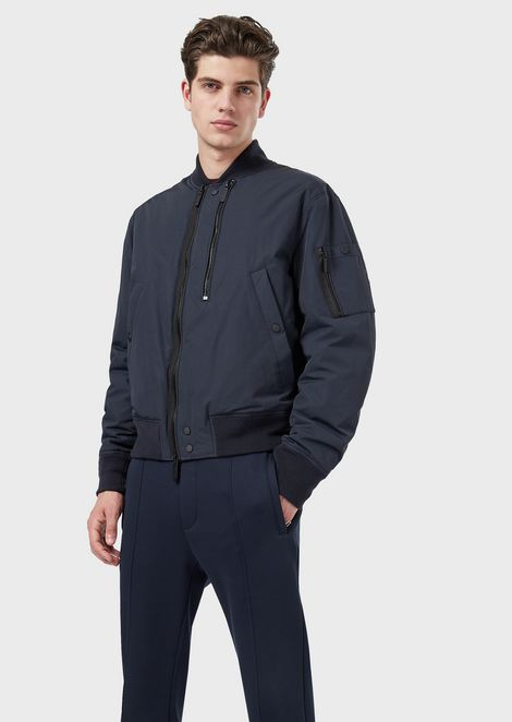 Padded bomber with double zip