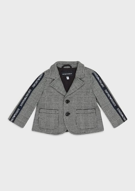 Prince of Wales check single-breasted jacket