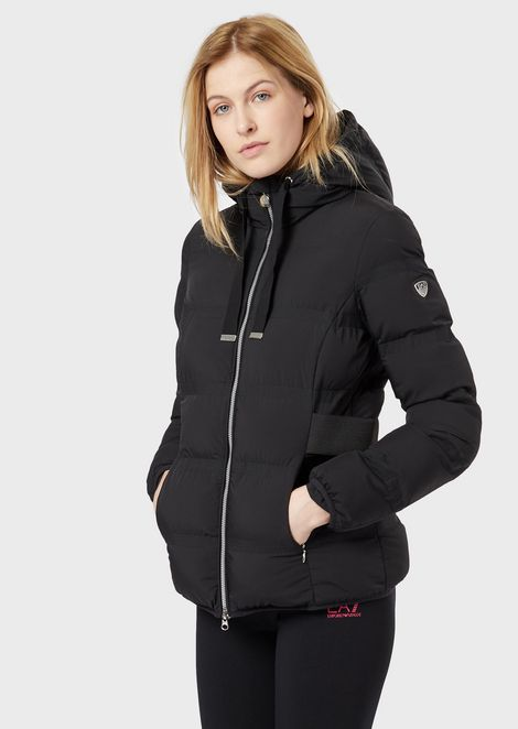 Padded jacket with hood and full zip closure