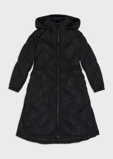 Ultrasonic-quilted long jacket