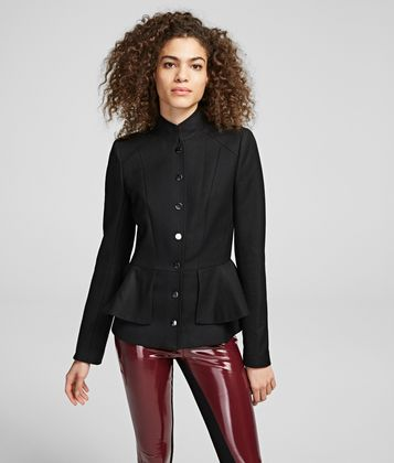 KARL LAGERFELD WOOL JACKET WITH PEPLUM