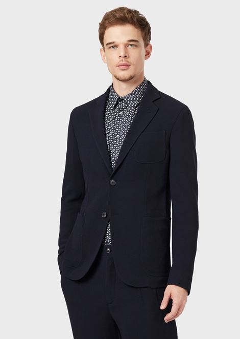 Regular-fit Upton range deconstructed jacket in Ottoman