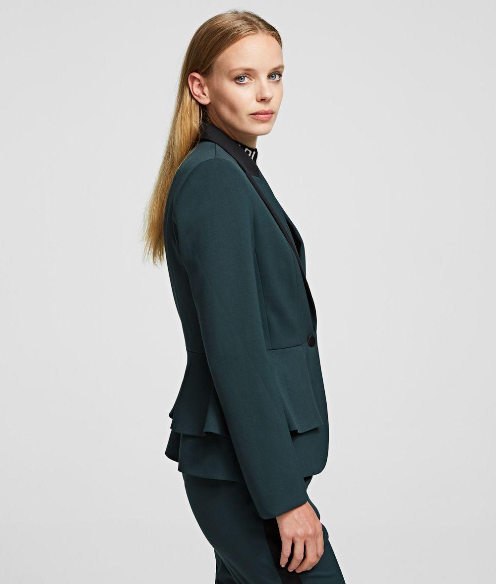 KARL LAGERFELD Taillierte Jacke mit Peplum-Einsatz Jacke Damen d