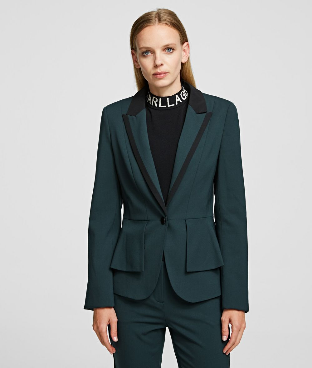 KARL LAGERFELD Tailored Jacket with Peplum Jacket Woman f