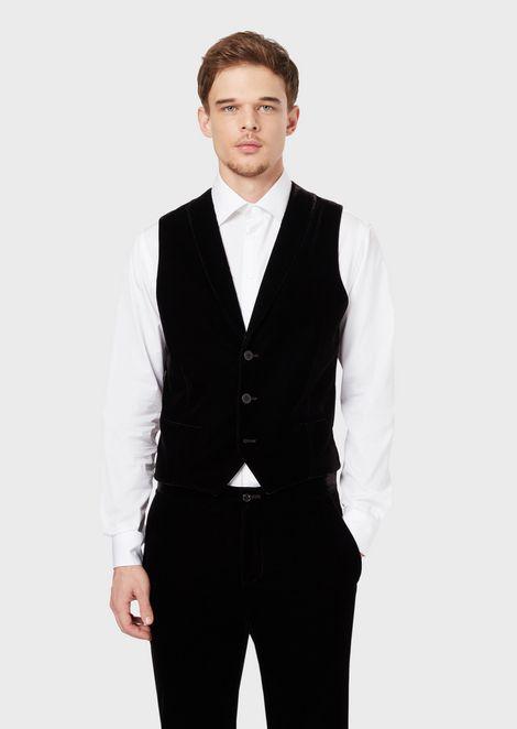 Velvet waistcoat with satin back