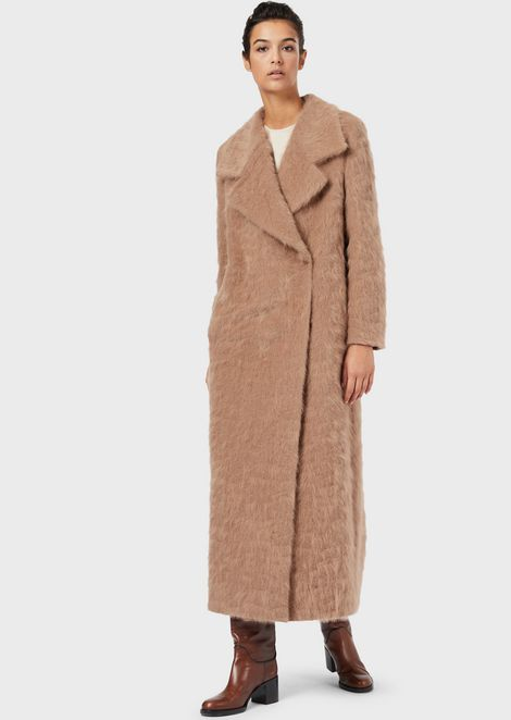 Virgin wool maxi coat
