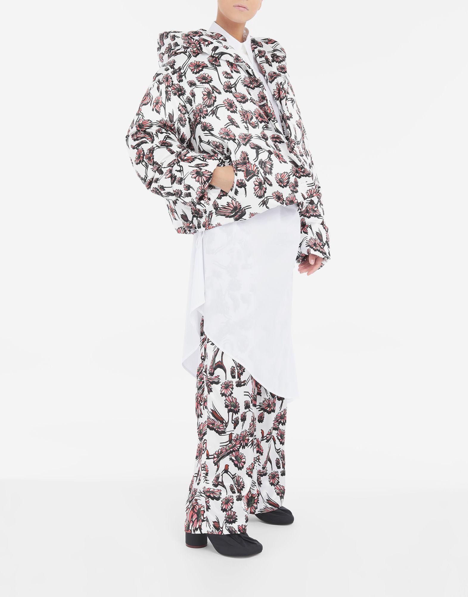 MM6 MAISON MARGIELA Утеплённая куртка с цветочным мотивом Куртка Для Женщин d
