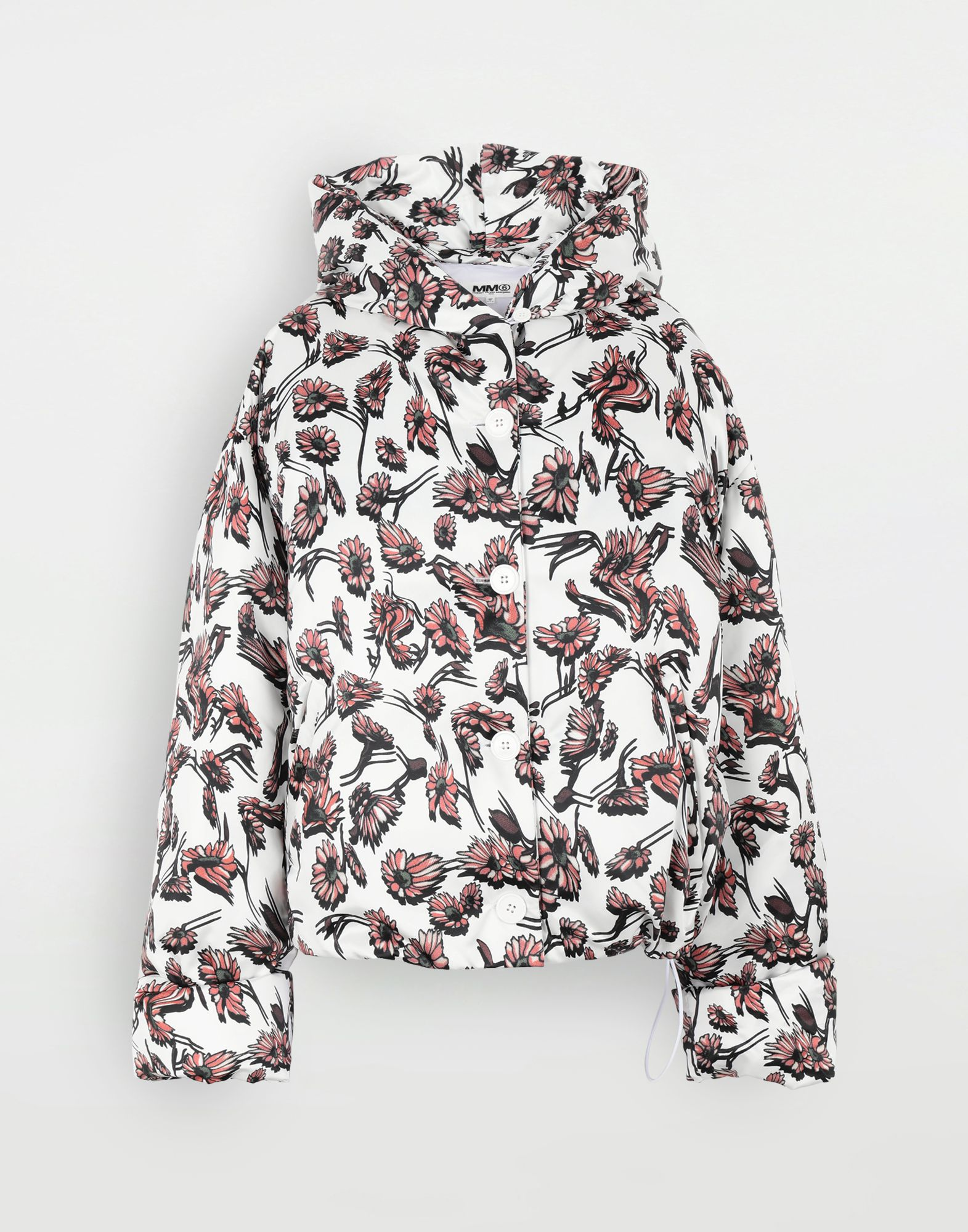 MM6 MAISON MARGIELA Утеплённая куртка с цветочным мотивом Куртка Для Женщин f