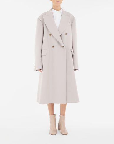 COATS & JACKETS Oversized coat  Beige