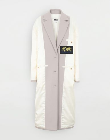COATS and JACKETS Reversed padded coat Ivory