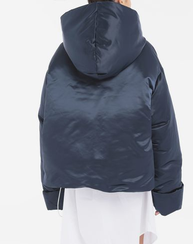 COATS and JACKETS Hooded padded jacket  Blue