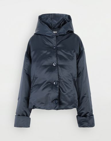 COATS & JACKETS Hooded padded jacket  Blue
