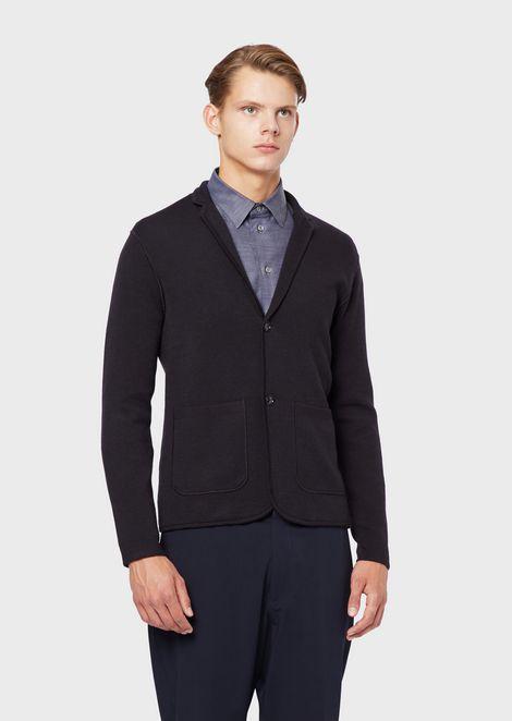 Blended-wool knit jacket