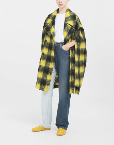 COATS & JACKETS Shrug mohair coat Yellow