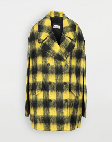 COATS and JACKETS Shrug mohair coat Yellow