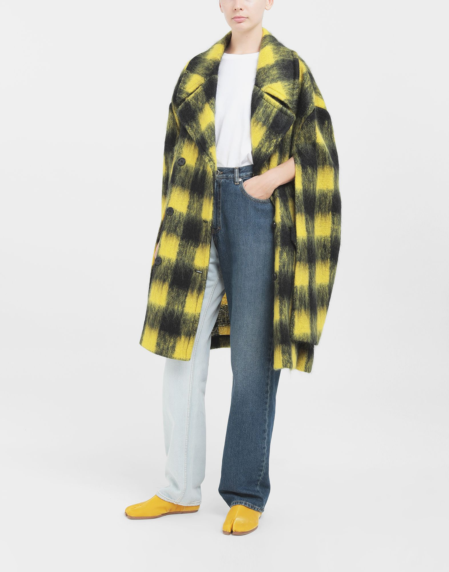 MAISON MARGIELA Mantel aus Mohair im Bolero-Stil Mantel Damen d