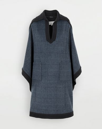 COATS and JACKETS Poncho Slate blue