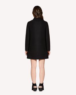 REDValentino Ruffle detail wool cashmere coat
