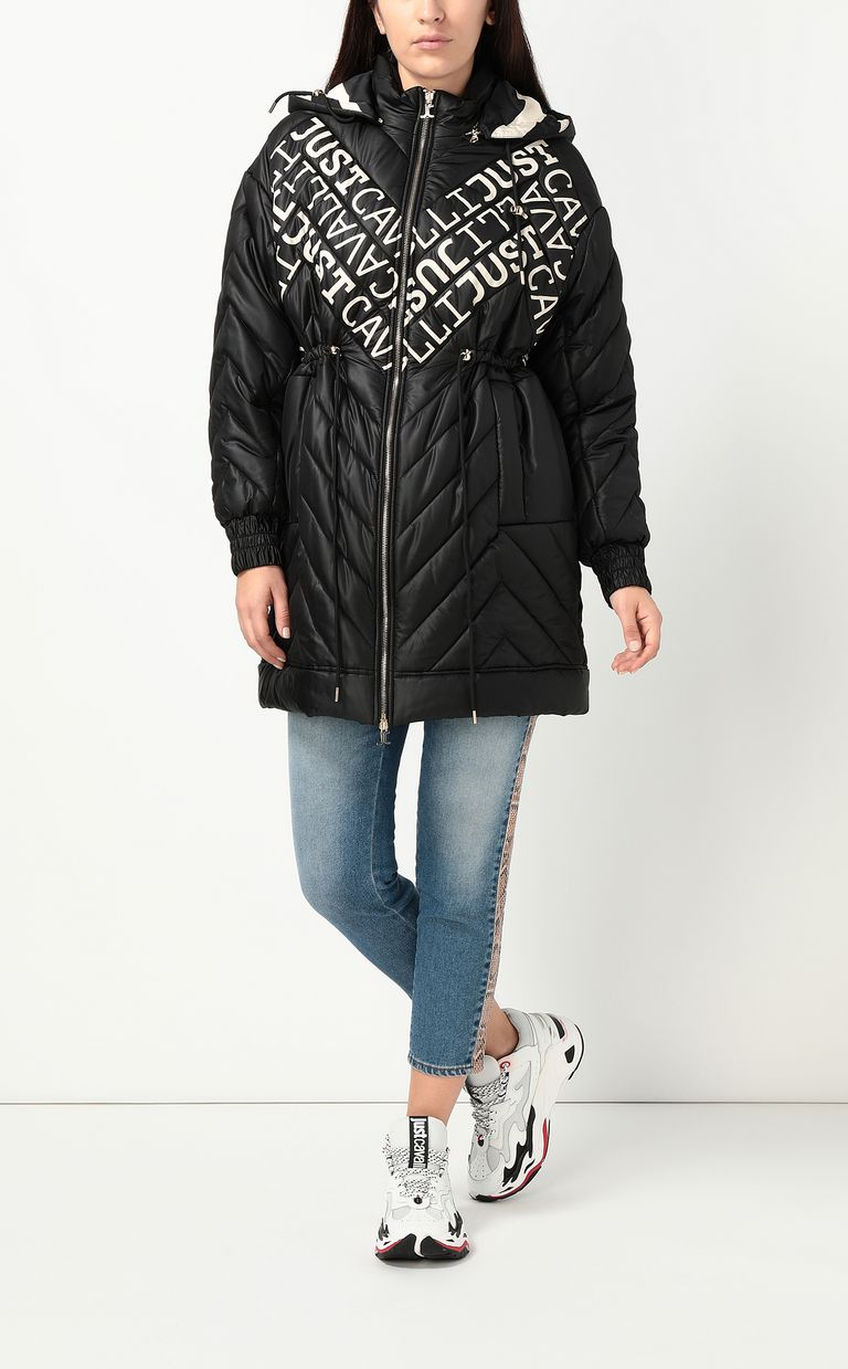 JUST CAVALLI Parka jacket with logo Coat Woman d