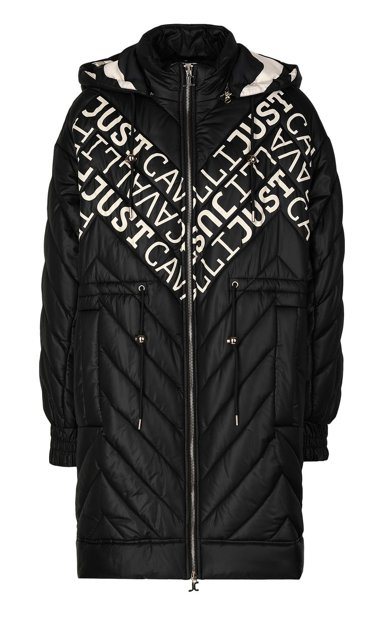 JUST CAVALLI Parka jacket with logo Coat Woman f