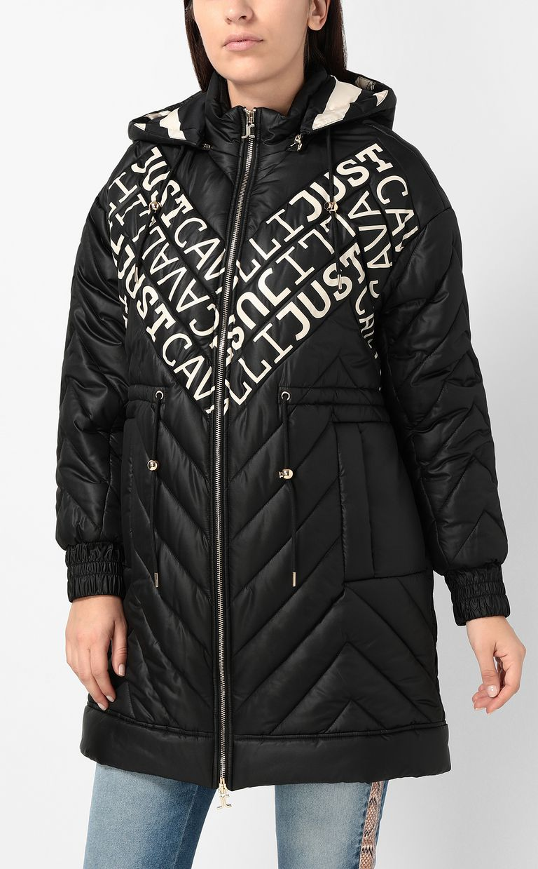 JUST CAVALLI Parka jacket with logo Coat Woman r