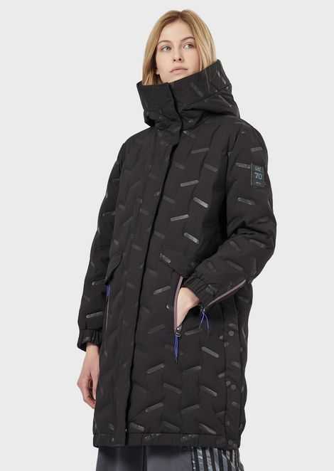 Padded parka in windproof, water-repellent fabric