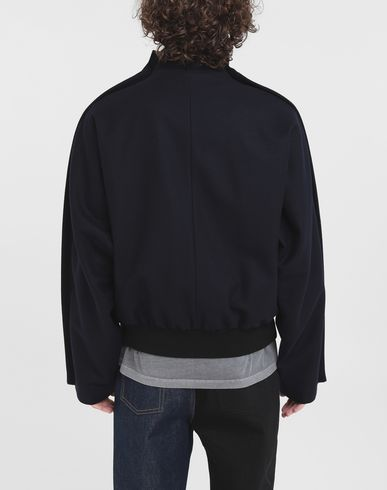COATS and JACKETS Outline wool jacket Blue