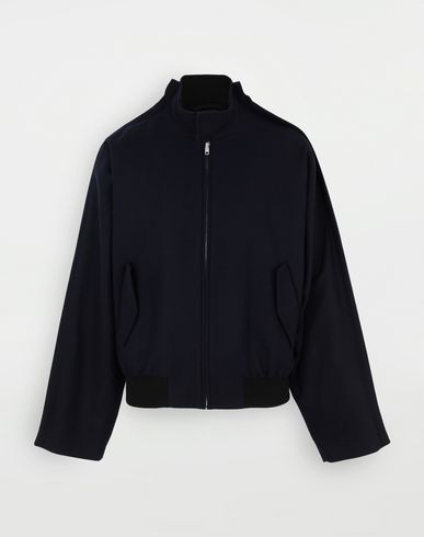 COATS & JACKETS Outline wool jacket Blue