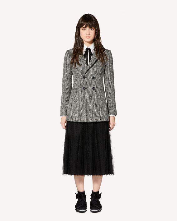 REDValentino Macro wool chevron jacket