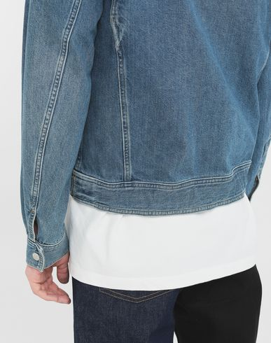 COATS and JACKETS Zip denim jacket Blue