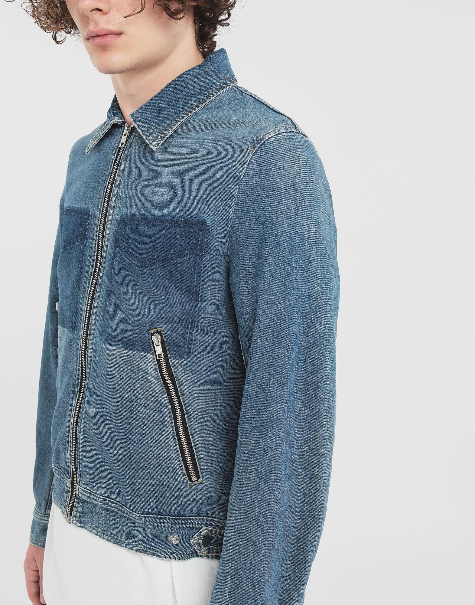MAISON MARGIELA Zip denim jacket Blazer Man a