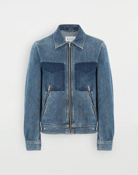MAISON MARGIELA Zip denim jacket Blazer Man f