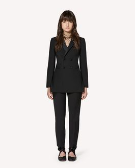 REDValentino Tuxedo detail viscose wool gabardine jacket