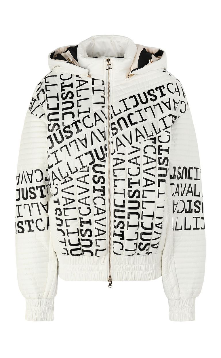 JUST CAVALLI Bomber jacket with logo Jacket Woman f